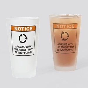 Atheist / Argue Drinking Glass