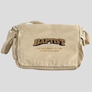 Baptist / Pew Messenger Bag