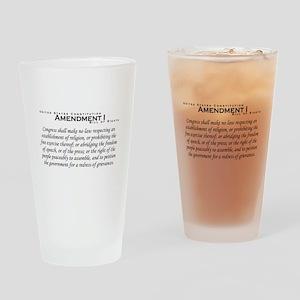 Amendment I Drinking Glass