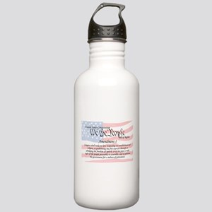 Amendment I and Flag Stainless Water Bottle 1.0L