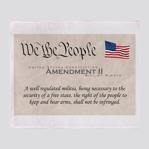 Amendment II w/Flag Throw Blanket