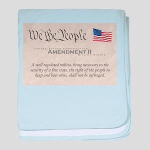 Amendment II w/Flag baby blanket