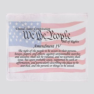 Amendment IV and Flag Throw Blanket