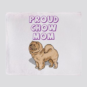 Proud Chow Mom Throw Blanket