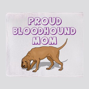 Proud Bloodhound Mom Throw Blanket