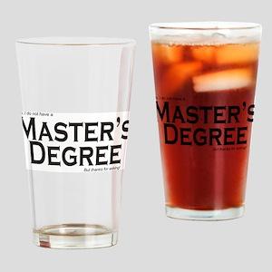 Master's Degree Drinking Glass