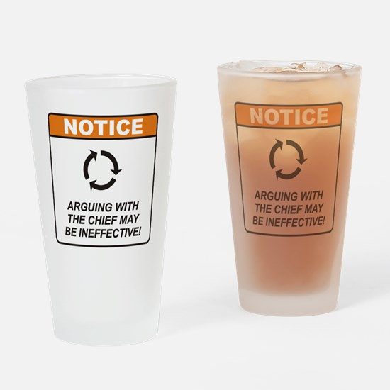 Chief / Argue Drinking Glass
