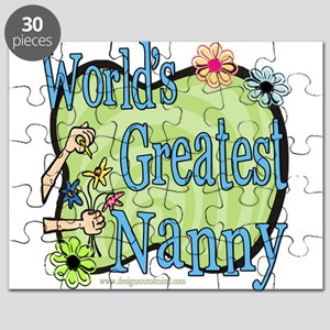 Greatest Nanny Floral Puzzle