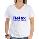 Relax Women's V-Neck T-Shirt