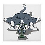 Eco cat 1 Tile Coaster