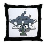 Eco cat 1 Throw Pillow