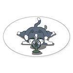 Eco cat 1 Sticker (Oval 50 pk)