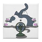Eco cat 2 Tile Coaster