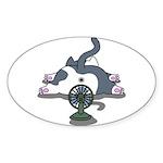 Eco cat 2 Sticker (Oval 10 pk)