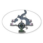 Eco cat 2 Sticker (Oval 50 pk)