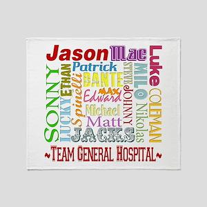 Team General Hospital Throw Blanket