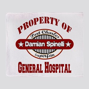 Property of Damian Spinelli Throw Blanket