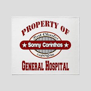 Property of Sonny Corinthos Throw Blanket