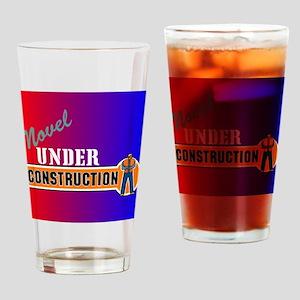 Novel Under Construction Drinking Glass
