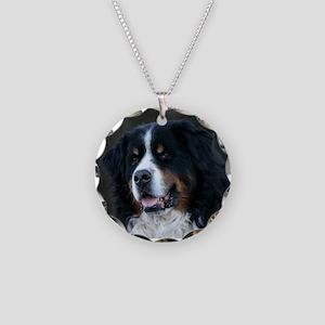 Bernese mountain dog Necklace Circle Charm