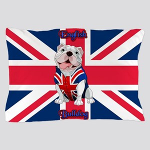Union Jack English Bulldog Pillow Case