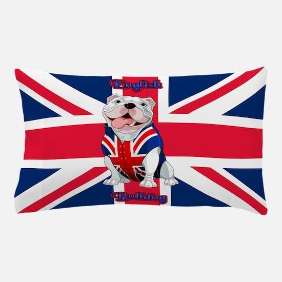 Union Jack English Bulldog Pillow Case