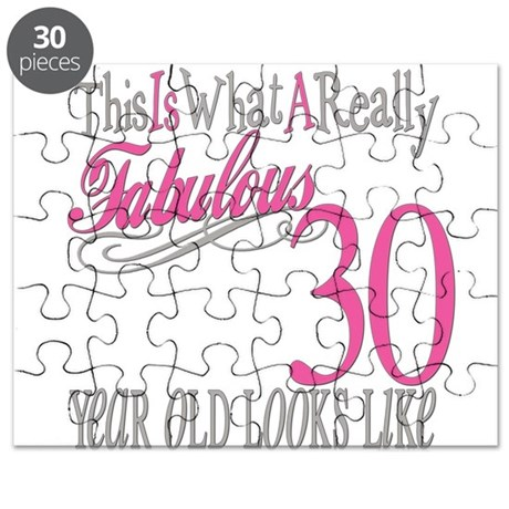 30th Birthday Gifts Puzzle