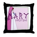 New! Mary Christmas by Svelte.biz Throw Pillow