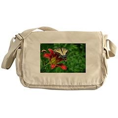 .swallowtail on daylily. Messenger Bag