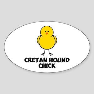Cretan Hound Chick Sticker (Oval)