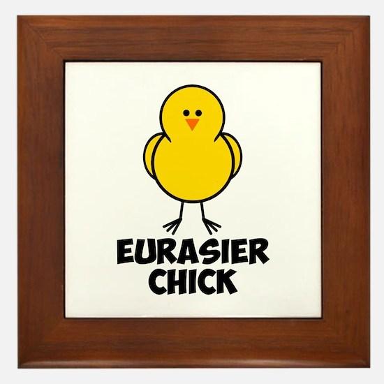 Eurasier Chick Framed Tile