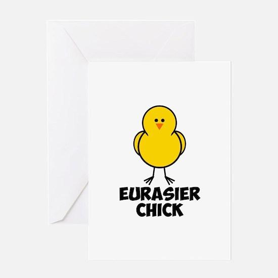 Eurasier Chick Greeting Card