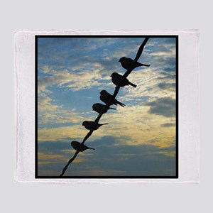 Birds on a Wire Throw Blanket