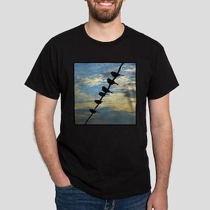 Birds on a Wire Dark T-Shirt