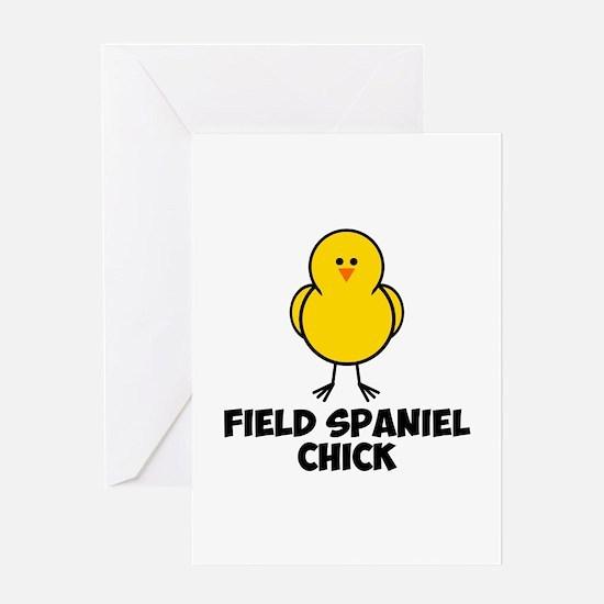 Field Spaniel Chick Greeting Card