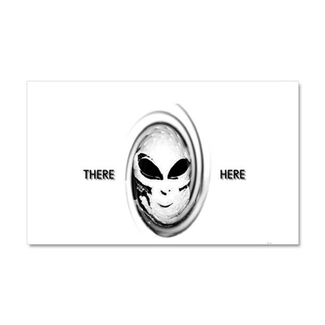 aliens there here Car Magnet 20 x 12