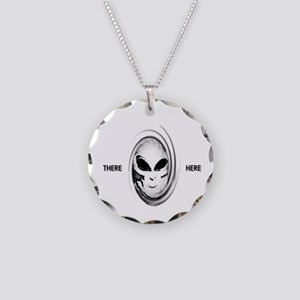 aliens there here Necklace Circle Charm