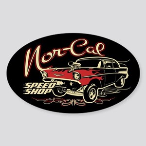 Nor-Cal Chevy Gasser Sticker (Oval)