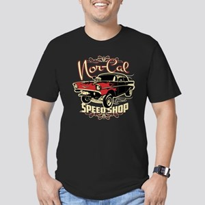 Nor-Cal Chevy Gasser Men's Fitted T-Shirt (dark)