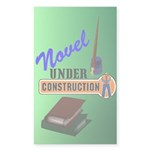 Novel Under Construction Sticker (Rectangle 50 pk)
