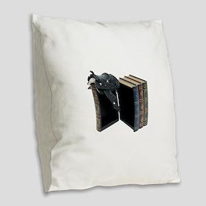 InfoStraightFromHorse030209 co Burlap Throw Pillow