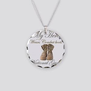 National Guard wife Necklace Circle Charm