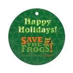 Save The Frogs Ornament (Round)