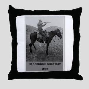 Horseback Shootist Throw Pillow