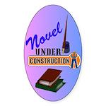 Novel Under Construction Sticker (Oval 10 pk)