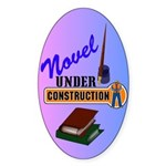 Novel Under Construction Sticker (Oval)