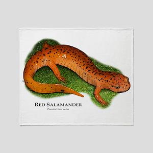 Red Salamander Throw Blanket