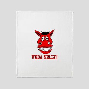 Horse Says Whoa Nelly Throw Blanket