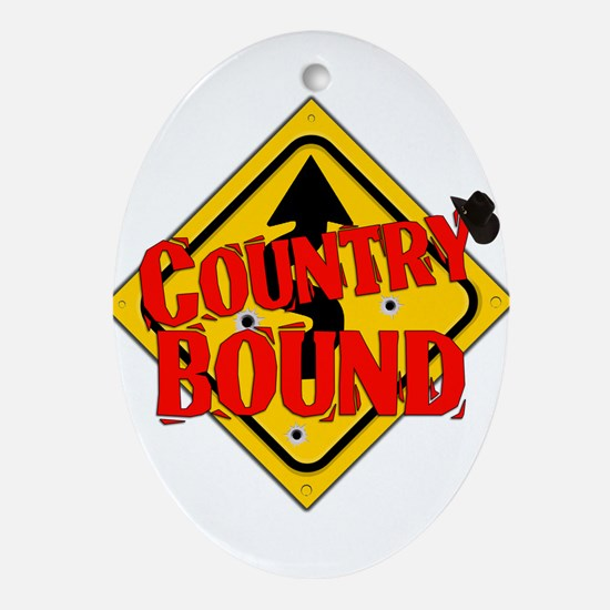 Country Bound Ornament (Oval)