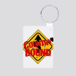 Country Bound Aluminum Photo Keychain